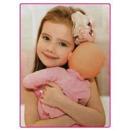 Bebelus Cute Baby in costum cu inimioare ,pernuta, bavetica si biberon 37 cm