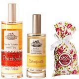 Pachet Apa de Toaleta Patchouly 100 ml si Parfum Camera Caprifoi 50 ml si Flori Lavanda 18 g Le Chatelard 1802 Le Chatelard 1802