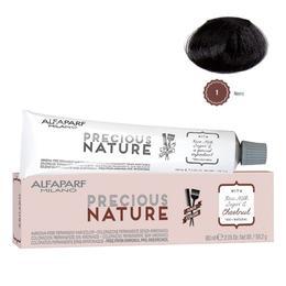 Vopsea Permanenta Fara Amoniac - Alfaparf Milano Precious Nature Ammonia-Free Permanent Hair Color, nuanta 1 Nero