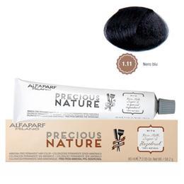 Vopsea Permanenta Fara Amoniac - Alfaparf Milano Precious Nature Ammonia-Free Permanent Hair Color, nuanta 1.11 Nero Blu
