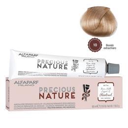 Vopsea Permanenta Fara Amoniac - Alfaparf Milano Precious Nature Ammonia-Free Permanent Hair Color, nuanta 10 Biondo Extrachiaro