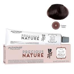 Vopsea Permanenta Fara Amoniac - Alfaparf Milano Precious Nature Ammonia-Free Permanent Hair Color, nuanta 4 Castano Medio