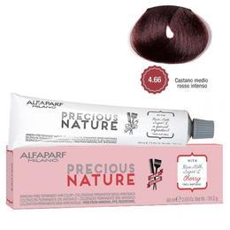 Vopsea Permanenta Fara Amoniac - Alfaparf Milano Precious Nature Ammonia-Free Permanent Hair Color, nuanta 4.66 Castano Medio Rosso Intenso