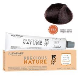 Vopsea Permanenta Fara Amoniac - Alfaparf Milano Precious Nature Ammonia-Free Permanent Hair Color, nuanta 5.53 Castano Chiaro Mogano Dorato