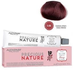 Vopsea Permanenta Fara Amoniac - Alfaparf Milano Precious Nature Ammonia-Free Permanent Hair Color, nuanta 5.66 Castano Chiaro Rosso Intenso