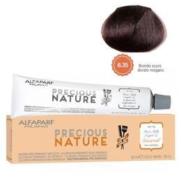 Vopsea Permanenta Fara Amoniac - Alfaparf Milano Precious Nature Ammonia-Free Permanent Hair Color, nuanta 6.35 Biondo Scuro Dorato Mogano