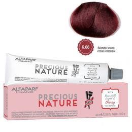 Vopsea Permanenta Fara Amoniac - Alfaparf Milano Precious Nature Ammonia-Free Permanent Hair Color, nuanta 6.66 Biondo Scuro Rosso Intenso