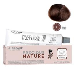 Vopsea Permanenta Fara Amoniac - Alfaparf Milano Precious Nature Ammonia-Free Permanent Hair Color, nuanta 7 Biondo Medio
