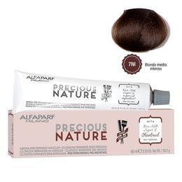 Vopsea Permanenta Fara Amoniac - Alfaparf Milano Precious Nature Ammonia-Free Permanent Hair Color, nuanta 7NI Biondo Medio Intenso