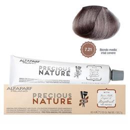 Vopsea Permanenta Fara Amoniac - Alfaparf Milano Precious Nature Ammonia-Free Permanent Hair Color, nuanta 7.21 Biondo Medio Irise Cenere