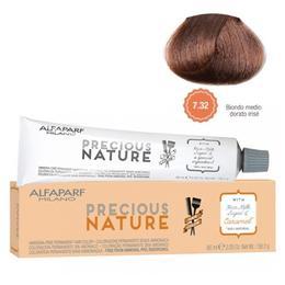 Vopsea Permanenta Fara Amoniac - Alfaparf Milano Precious Nature Ammonia-Free Permanent Hair Color, nuanta 7.32 Biondo Medio Dorato Irise