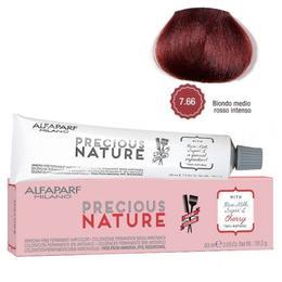 Vopsea Permanenta Fara Amoniac - Alfaparf Milano Precious Nature Ammonia-Free Permanent Hair Color, nuanta 7.66 Biondo Medio Rosso Intenso