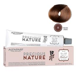 Vopsea Permanenta Fara Amoniac - Alfaparf Milano Precious Nature Ammonia-Free Permanent Hair Color, nuanta 8 Biondo Chiaro