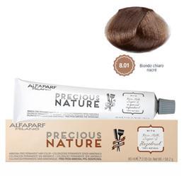 Vopsea Permanenta Fara Amoniac - Alfaparf Milano Precious Nature Ammonia-Free Permanent Hair Color, nuanta 8.01 Biondo Chiaro Nacre