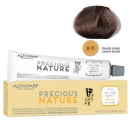 Vopsea Permanenta Fara Amoniac - Alfaparf Milano Precious Nature Ammonia-Free Permanent Hair Color, nuanta 8.13 Biondo Chiaro Cenere Dorato