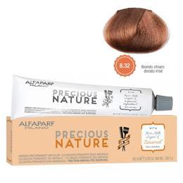 Vopsea Permanenta Fara Amoniac - Alfaparf Milano Precious Nature Ammonia-Free Permanent Hair Color, nuanta 8.32 Biondo Chiaro Dorato Irise