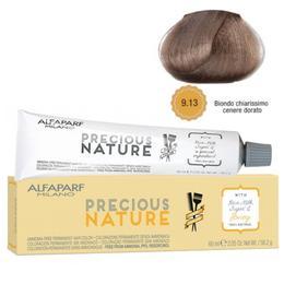 Vopsea Permanenta Fara Amoniac - Alfaparf Milano Precious Nature Ammonia-Free Permanent Hair Color, nuanta 9.13 Biondo Chiarissimo Cenere Dorato