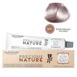 Vopsea Permanenta Fara Amoniac - Alfaparf Milano Precious Nature Ammonia-Free Permanent Hair Color, nuanta 9.21 Biondo Chiarissimo Irise Cenere