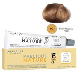 Vopsea Permanenta Fara Amoniac - Alfaparf Milano Precious Nature Ammonia-Free Permanent Hair Color, nuanta 9.3 Biondo Chiarissimo Dorato