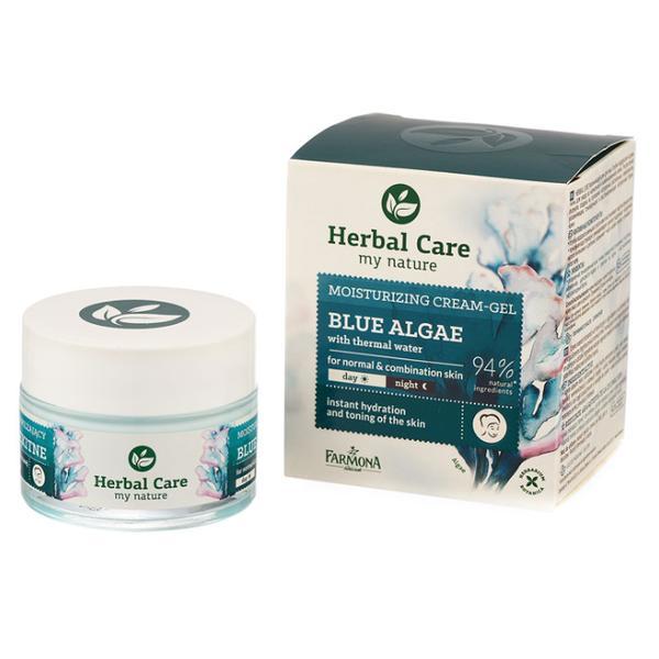 Crema Hidratanta cu Alge Albastre si Apa Termala - Farmona Herbal Care Blue Algae with Thermal Water Moisturizing Cream Gel, 50ml imagine produs