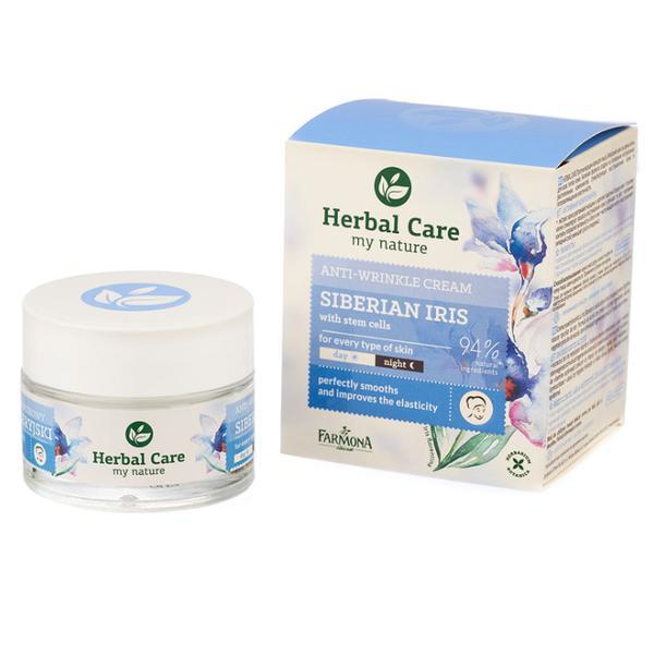 Crema Antirid cu Iris Siberian si Celule Stem - Farmona Herbal Care Siberian Iris with Stem Cells Anti-Wrinkle Cream, 50ml imagine produs