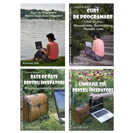 Pachet Promotional Carti Programare Incepatori (3+1), autor Gabriel Braharu editura De Vis Software