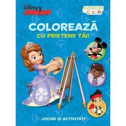 Disney Junior - Coloreaza cu prietenii tai! Jocuri si activitati, editura Litera