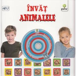Invat animalele (contine CD cu jocuri), editura Gama