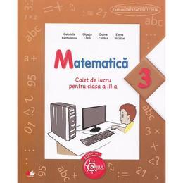 Matematica cls 3 caiet - Gabriela Barbulescu, Olguta Calin, editura Litera
