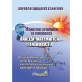 Memorator analiza matematica pentru liceu - Gheorghe Adalbert Schneider, editura Hyperion