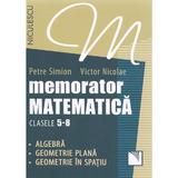 Memorator matematica cls 5-8 - Petre Simion, Victor Nicolae, editura Niculescu