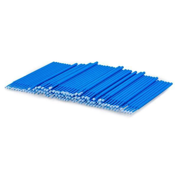 Set 100 Micro Brush, microaplicatoare extensii gene, albastru esteto.ro