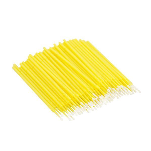 Set 100 Micro Brush, microaplicatoare extensii gene, galben esteto.ro