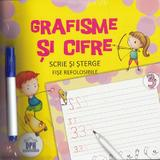 Scrie si sterge: Grafisme si cifre. Fise refolosibile, editura Didactica Publishing House