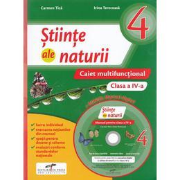 Stiinte ale naturii - Clasa a 4-a - Caiet multifunctional + CD - Carmen Tica, Irina Terecoasa, editura Cd Press
