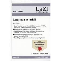 Legislatia notariala. Actualizata 29.09.2016, editura C.h. Beck