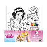 Disney Princess, Puzzle coloring set. Puzzle de colorat, Printese