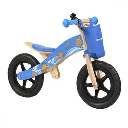 Bicicleta fara pedale din lemn Woody Blue