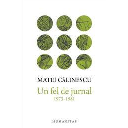 Un fel de jurnal (1973-1981) - Matei Calinescu, editura Humanitas