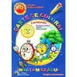 Invatam ceasul - Carte de colorat si activitati practice, editura Steaua Nordului