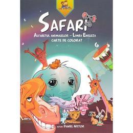 Safari. Alfabetul animalelor - Limba Engleza. Carte de colorat - Daniel Nistor, editura Lizuka Educativ