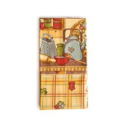 Fata de masa 150 x 300 cm, Bumbac 100%, model Kitchen, Gecor Bucatarie, cod 5220