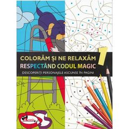 Coloram si ne relaxam respectand codul magic 1, editura Aramis