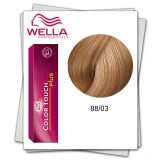 Vopsea fara Amoniac - Wella Professionals Color Touch Plus nuanta 88/03 blond deschis intens natural auriu