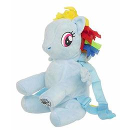 Ghiozdan pentru gradinita de plus, My little pony Rainbow Dash, albastru, 27 cm