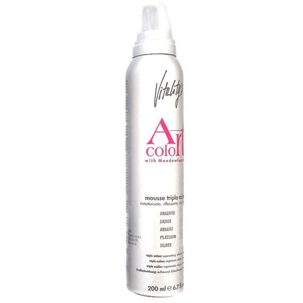 Spuma Coloranta cu Tripla Actiune - Vitality's Art Color Triple Action Mousse, Silver, 200ml imagine produs