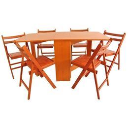 Set masa plianta MD1 cu 6 scaune pliante, cires
