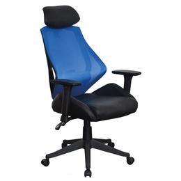 Scaun birou SL Q406, negru/albastru