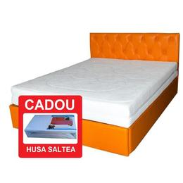 Saltea CRONOS Spring Comfort, Spuma HR, Husa detasabila + CADOU, 140x200x24