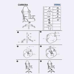 Scaun gaming SL Carrera, negru/ galben